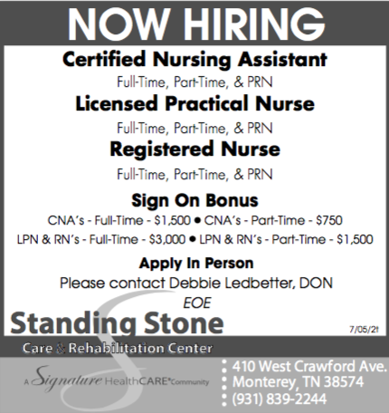 standing stone help wanted